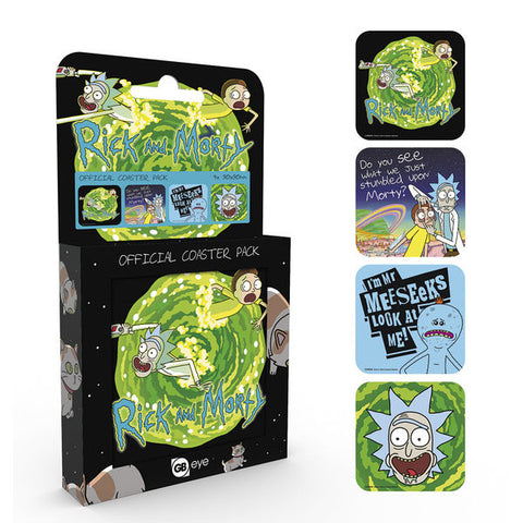 Set of 4 Coasters (Rick And Morty)