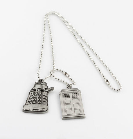 Dog Tags Necklace  (Dr Who)
