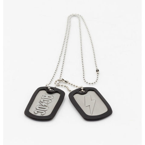 Dog Tags Necklace (AC/DC - Music)