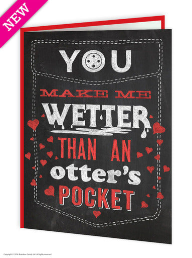 You Make Me Wetter Than An Otter's Pocket (Valentines Card)