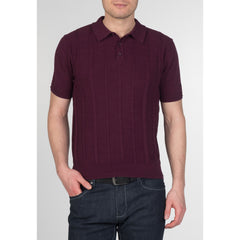 Frith Cable Knit Polo - Merc