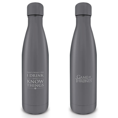 I Drink And I Know Things Drink Bottle (Game of Thrones)