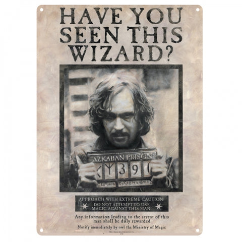 Sirius Black Large Tin Sign (Harry Potter)