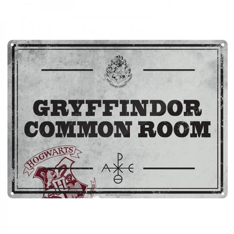 Common Room Small Tin Sign (Harry Potter)