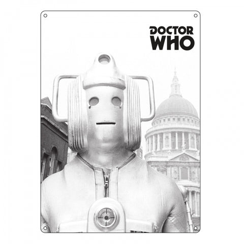 Cyberman Large Tin Sign (Dr Who)