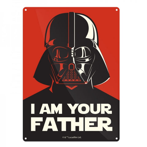 I Am Your Father Small Tin Sign (Star Wars)
