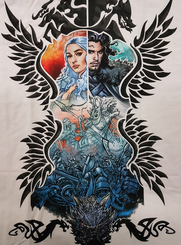 Fire and Ice T-Shirt (Game of Thrones - Birchams Art)