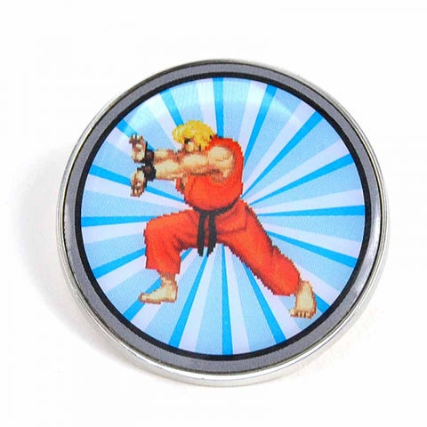 Ken Enamel Badge (Capcom - Gaming - Street Fighter)