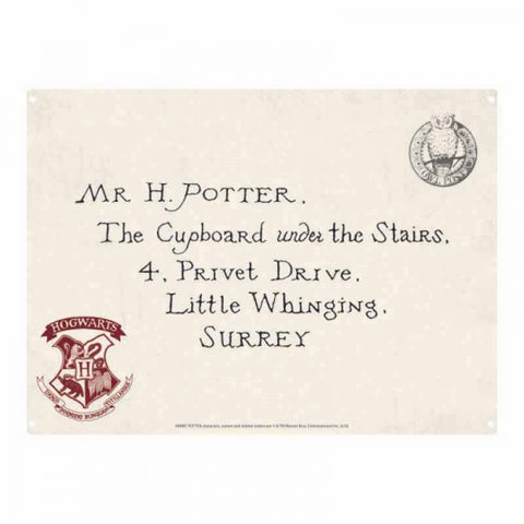 Letter Small Tin Sign (Harry Potter)
