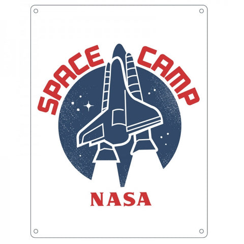 Space Camp Small Tin Sign (NASA)