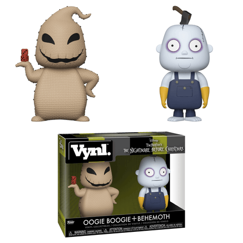 Oogy Boogy & Behemoth VYNL Vinyl Figures 2-Pack (Nightmare Before Christmas - Disney - Collectible)