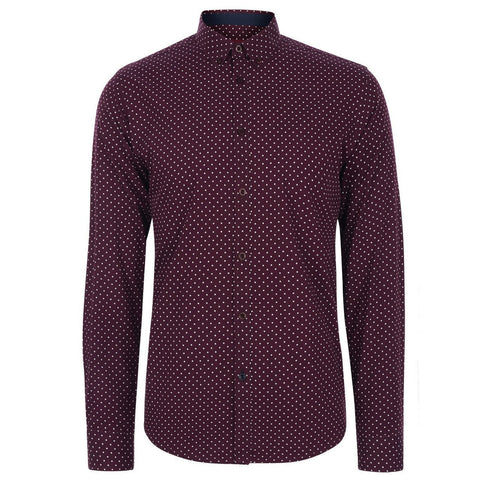 Siegel Polka Dot Wine Shirt - Merc