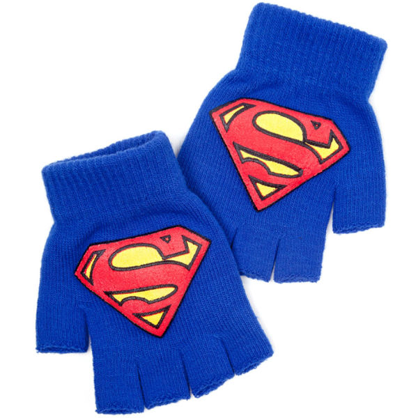 Superman Fingerless Gloves