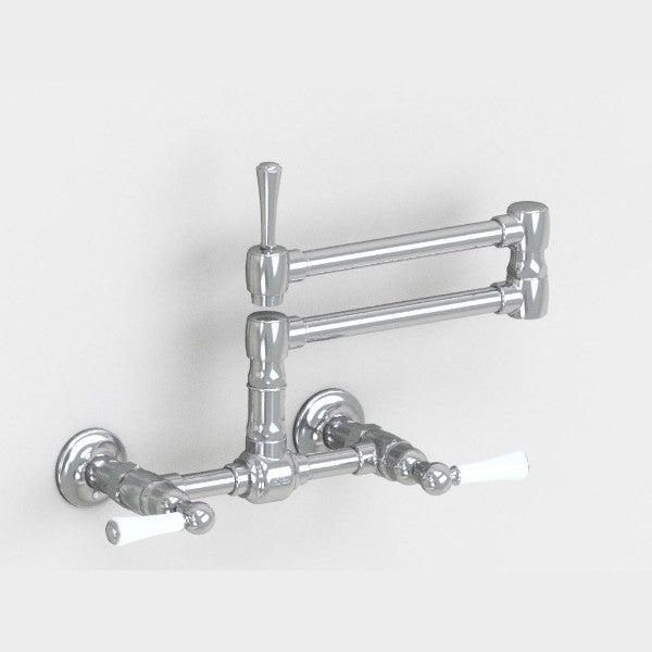 Steam Valve Wall Mounted Kitchen Mixer Tap with Articulated Spout - 1010BS