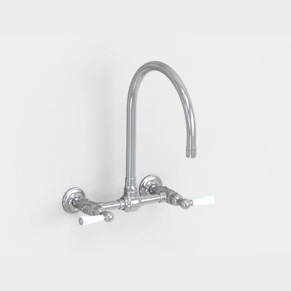 Steam Valve Wall Mounted Bridge Mixer Tap with Swivel Spout - 1011BS