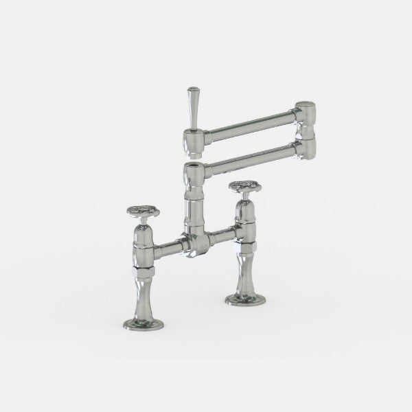 Steam Valve Bridge Kitchen Mixer Tap with Articulated Spout - 1013BS
