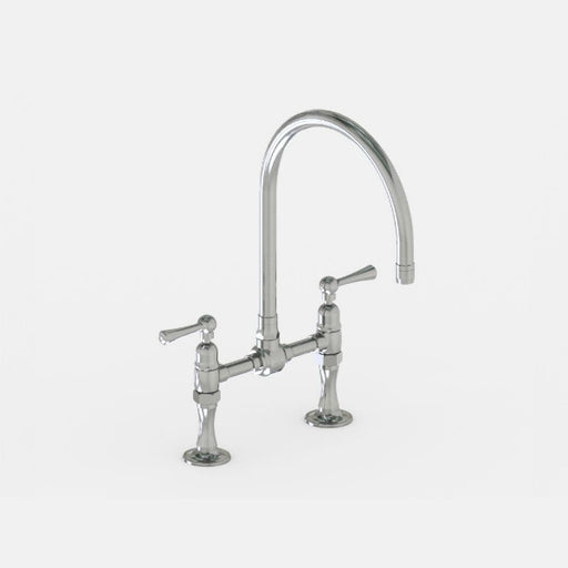 Steam Valve Lever Bridge Kitchen Mixer Tap with Swivel Spout - 1014