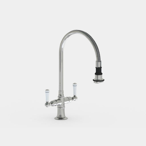Steam Valve Mono Kitchen Mixer Tap with Detachable Swivel Spout - 1022
