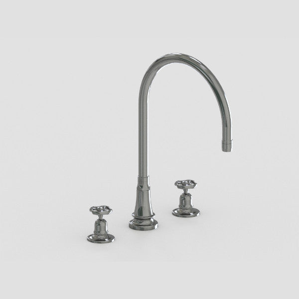 Steam Valve 3 Hole Lever Kitchen Mixer Tap with Swivel Spout 1031