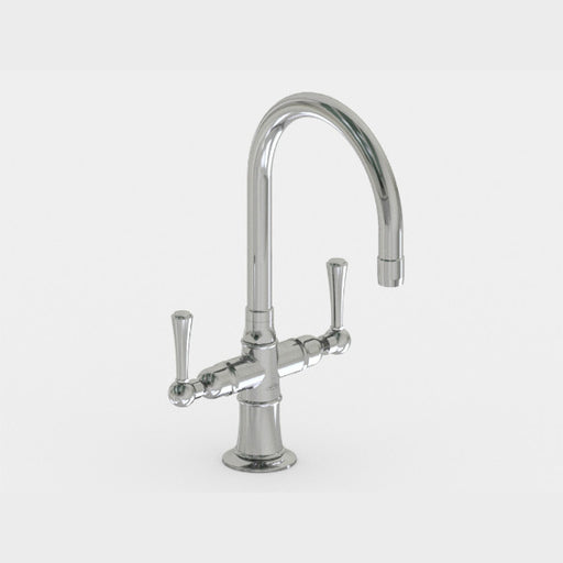 Steam Valve Dual Lever Mono Kitchen Mixer with Swivel Spout - 1041BS