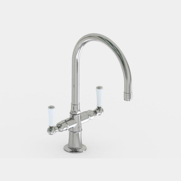 "Steam Valve Mono Lever Sink Mixer with 8.5"" Swivel Spout - 1221BS Kitchen Tap"