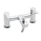 Tre Mercati  Chrome 1230 Pillar Bath Shower Mixer Complete with Kit Full View