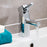 16001 Just Taps Chrome Milo Basin Mixer Tap