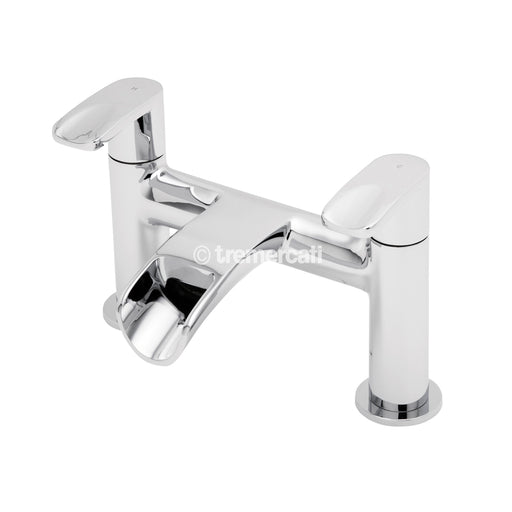 Tre Mercati Chrome 1640 Ora 2 Hole Waterfall Bath Filler Front View