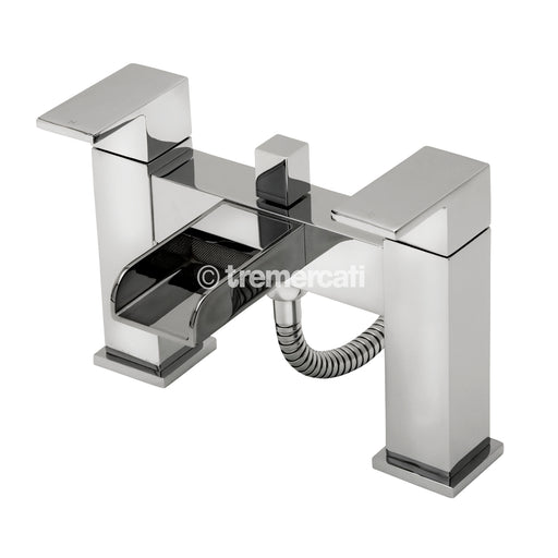 Tre Mercati 1806 Chrome Geysir Pillar Bath Shower Mixer Kit Front View