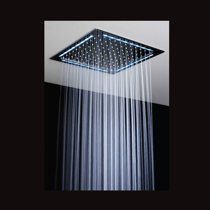 Just Taps Square LED Light Rain Overhead Shower A755