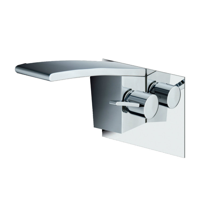 Just Taps Wings Chrome Wall Mount Basin Mixer Taps WIN231