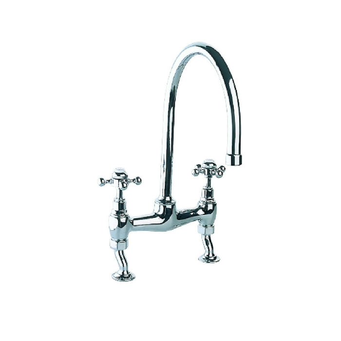 Just Taps Vintage Chrome Bridge Kitchen Mixer Tap 9329
