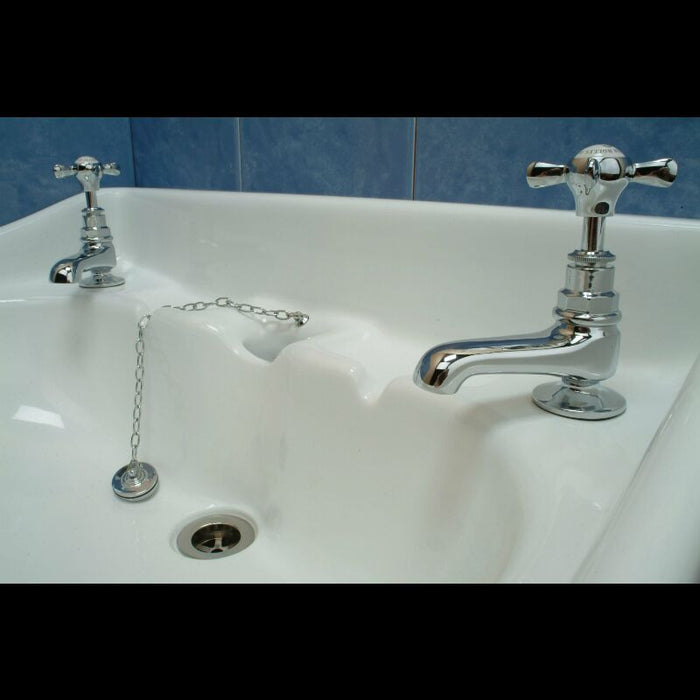 "Hollys of Bath X-Handles 3"" Basin Pillar Taps - Bathroom Tap 2101"
