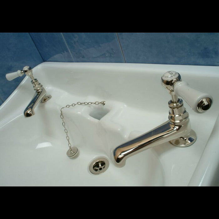"Hollys of Bath Lever Handles 4½"" Basin Pillar Tap 2111"