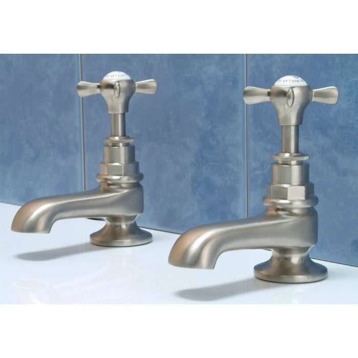 "Hollys of Bath 3½"" Pair Bath Pillar Mixer Tap 2201"