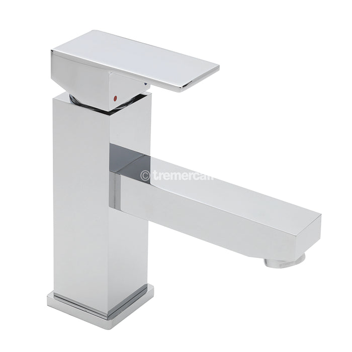 Tre Mercati 22375 Chrome Edge Mono Basin Mixer with Click Clack Waste Full View