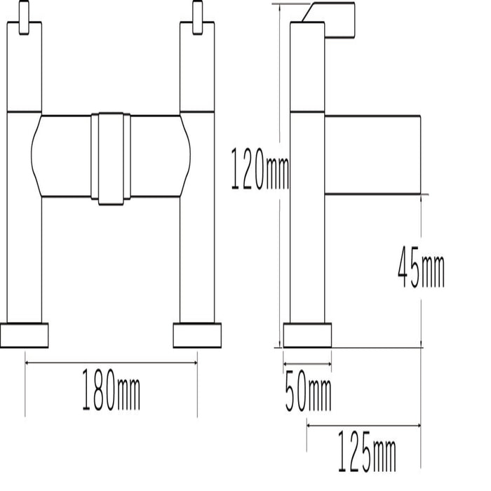 22540 Cabana Pillar Bath Filler Dimensions