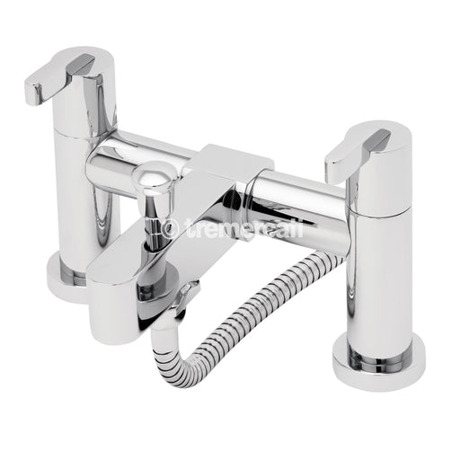 Tre Mercati Chrome 22555 Cabana Pillar Bath Shower Mixer Complete with Kit Full View