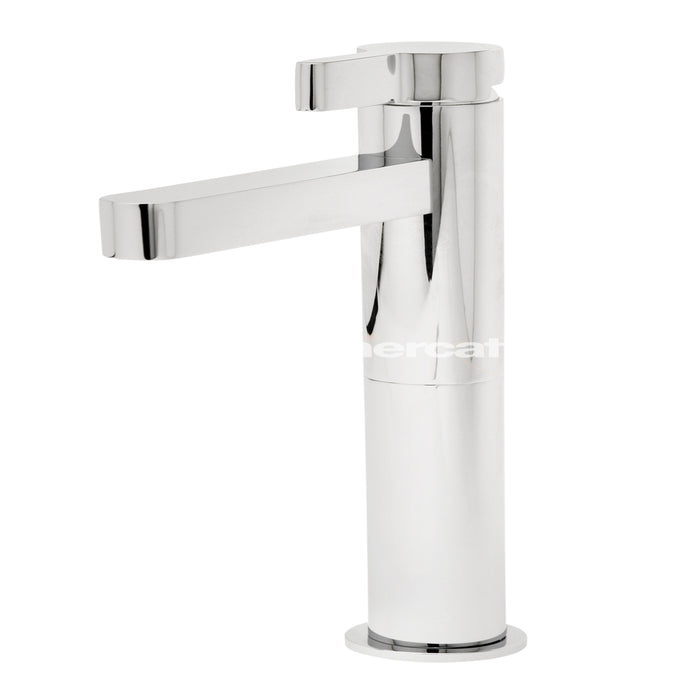 Tre Mercati Cabana 22560 Chrome Extended Mono Basin Mixer with Click Clack Waste Full View