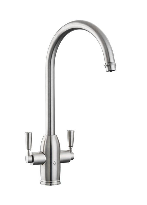Rangemaster Geo Classic Dual Lever Hot Water Kitchen Tap