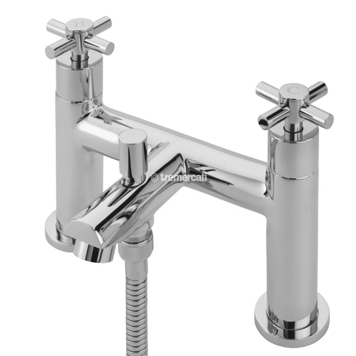 Tre Mercati Erin Pillar 30055 Chrome Bath Shower Mixer Complete with Kit 30055