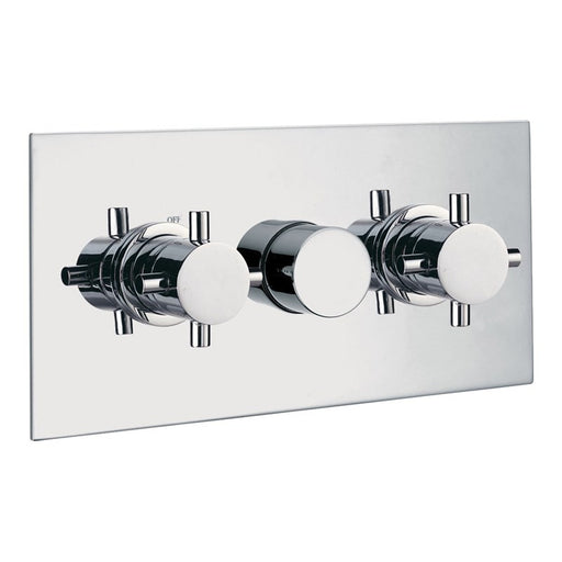 Just Taps Capri Horizontal Chrome Concealed Thermostatic Shower Valve 25692