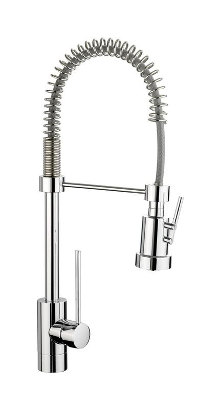 Rangemaster Pro Spray Single Lever Chrome Pull Out Kitchen Tap