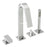 Tre Mercati 40060 Chrome Coast 4 Hole Bath Shower Mixer Complete Kit Full View