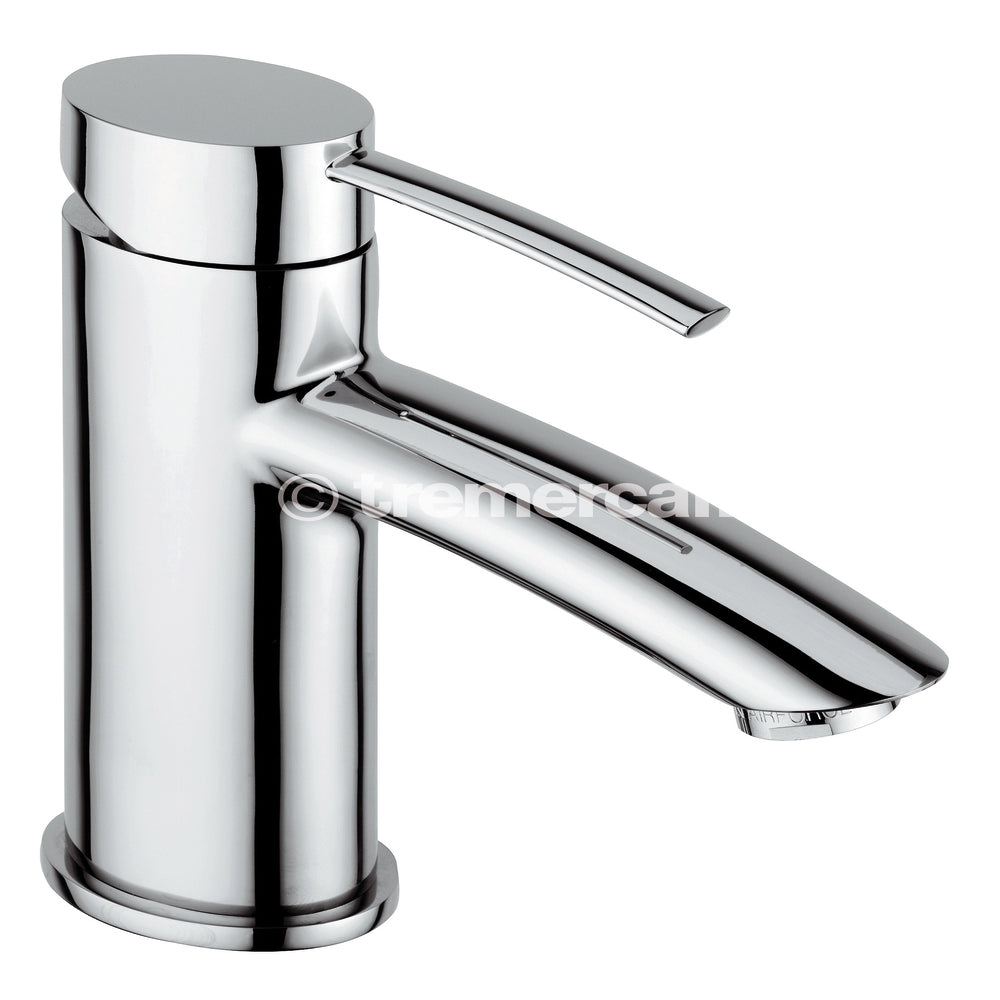 Tre Mercati 42070 Chrome Bella Mono Basin Mixer with Pop-Up Waste Full View