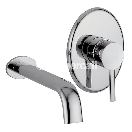 Tre Mercati Chrome Bella 2 Hole Wall Mounted Basin Mixer 42072 Full View
