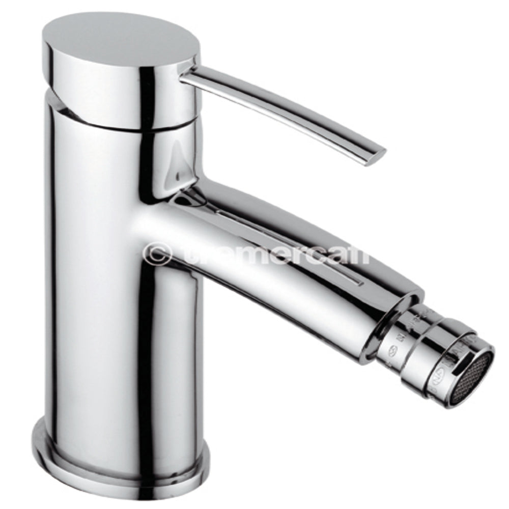 Tre Mercati 42080 Chrome Bella Mono Bidet Mixer with Pop-Up Waste Full View