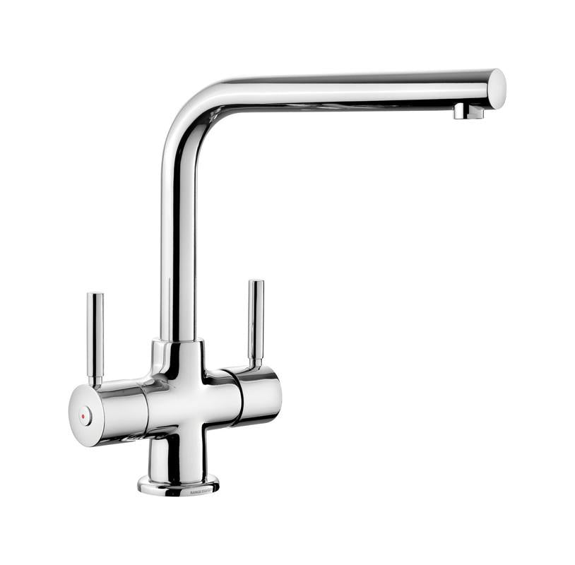 Rangemaster Aquadisc 5 Dual Lever Chrome Kitchen Tap