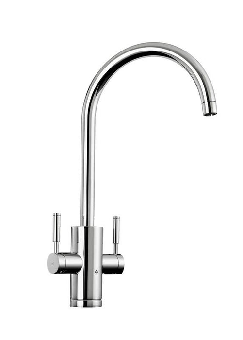 Rangemaster Geo Trend Dual Lever Hot Water Kitchen Tap