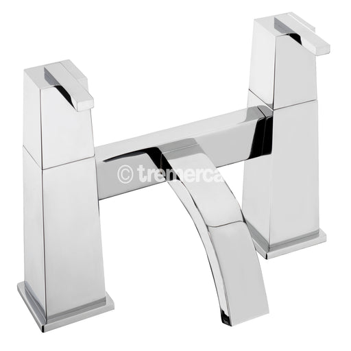 Tre Mercati Chrome 53030 Mr. Darcy Pillar Bath Filler Front View